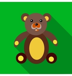 Teddy bear icon in flat style vector image