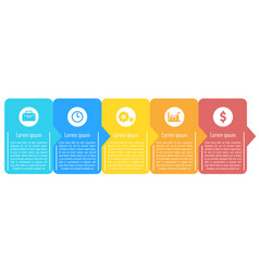Template infographic with arrows vector