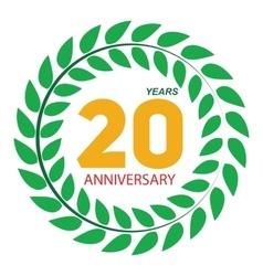 Template Logo 20 Anniversary in Laurel Wreath vector
