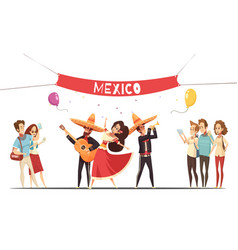 Traditional mexico festival design concept vector