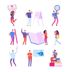 training people education e-learning online vector image