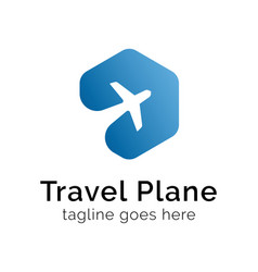 travel plane logo design inspiration vector image