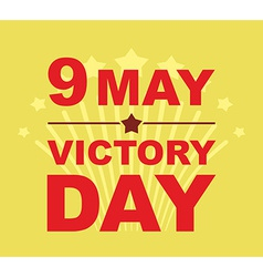 Victory Day may 9 Salute vector image