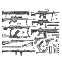 vintage military elements set vector image