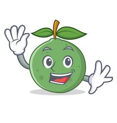 waving guava character cartoon style vector image