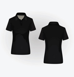 women polo shirt vector image