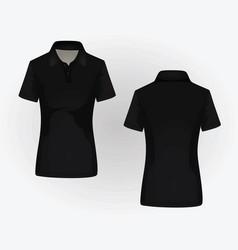 Women polo shirt vector