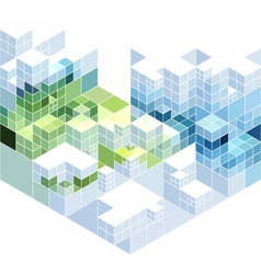 abstract cubic background vector image vector image