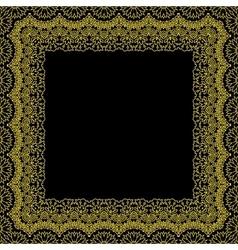 Decorative frame border pattern vector