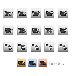 Folder Icons 1 vector image