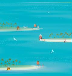 Islands in the Ocean vector image