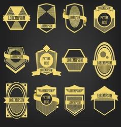 Premium Vintage Label Set vector image