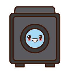 washer machine symbol kawaii cute cartoon vector image