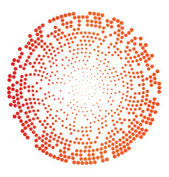 abstract circle dotted background vector image vector image