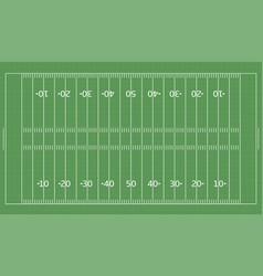 american football green field vector image vector image