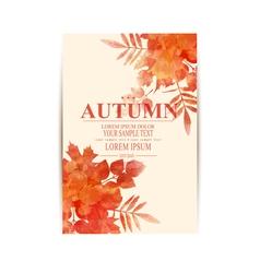 autumn background with orange leaves imitation of vector image