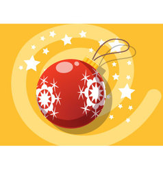 Ball icon christmas vector image