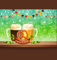 beer realistic vector image vector image