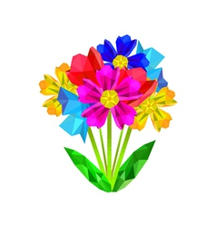 colorful origami bouquet vector image vector image