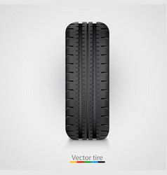 black rubber tire on white background vector image