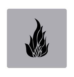 blue emblem fire icon vector image