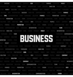 business background with business keywords vector image