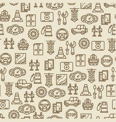car travel seamless pattern - travel background vector image vector image