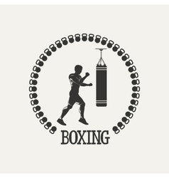 Cross training boxing logo vector image