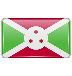 Flags Burundi in the form of a magnet on vector image