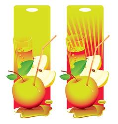 fresh apple vector image vector image