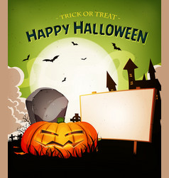 Halloween holidays landscape background vector