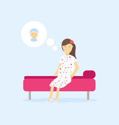 happy young mother awaiting her baby vector image
