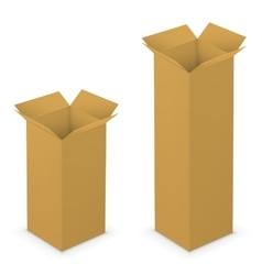 Open box yellow vector image vector image