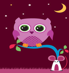 OWL-IN-THE-NIGHT-1 vector image vector image