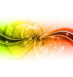 red and green tech background vector image