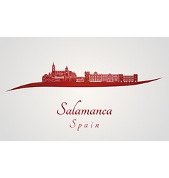 Salamanca skyline in red vector image vector image