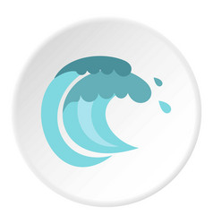 tenth wave icon circle vector image vector image