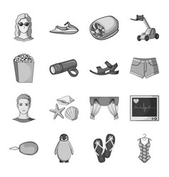 transport recreation animal and other web icon vector image