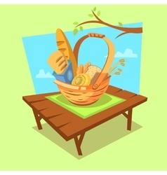 Bakery cartoon concept vector image vector image