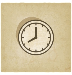 clock face old background vector image