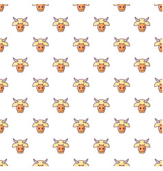 cow head pattern seamless vector image vector image