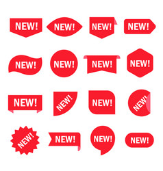 new sticker set vector image vector image