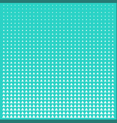 pattern green and white triangle halftone grid vector image vector image