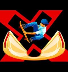 X-Games skateboarding vector image vector image