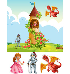 A fantasy land element vector
