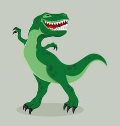 Big cheerful dinosaur vector