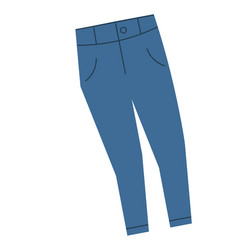 Blue jeans flat on white vector