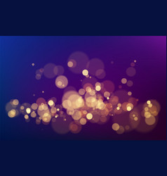 bokeh effect on dark background christmas glowing vector image