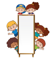 Border template with many children vector
