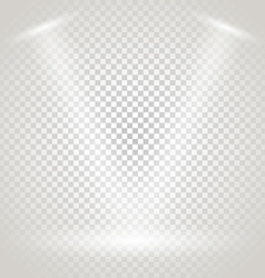 Bright stage with spotlights Transparent vector image